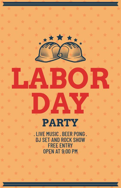 Labor Day Party Flyer Template 429c