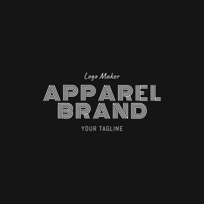 Apparel Brand Logo Design Template 1317b -