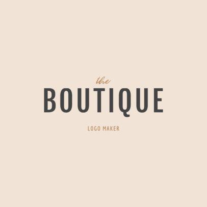 Boutique Clothing Brand Logo Design Maker 1317c -