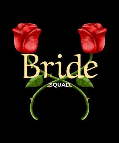 Floral Bride Squad T-Shirt Maker 436c