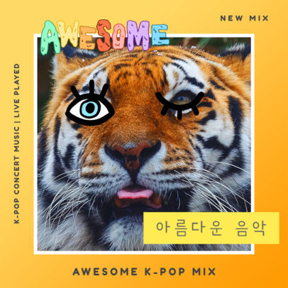 Amazing K-Pop CD Cover Template 448e