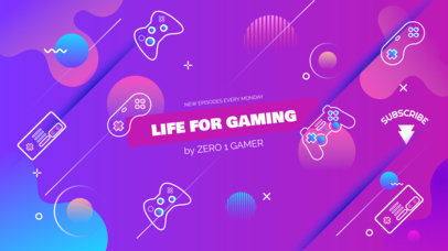 Gaming Vlog Channel Banner Template 460