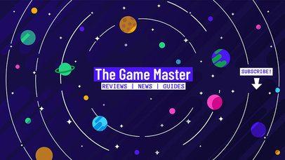 Youtube Channel Banner Design Template for Gaming Vlog 462