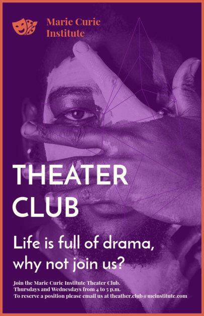 Placeit - School Drama Club Flyer Maker