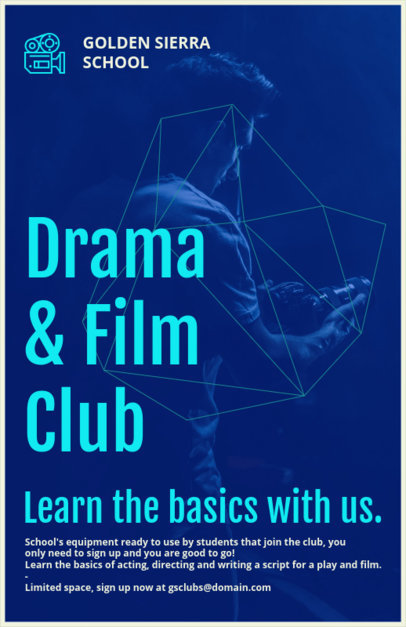 Drama School Club Flyer Maker 433b