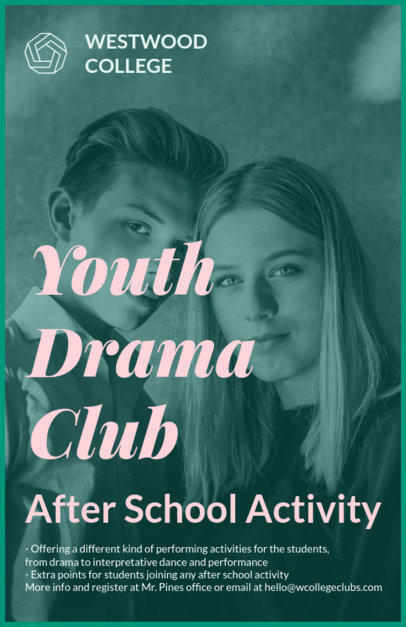 Youth Drama Club Flyer Maker 433c