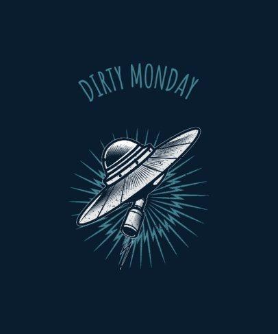 Rock On T-Shirt Design Template 444e