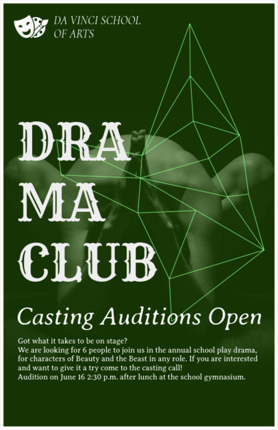 School Drama Club Flyer Maker 433e