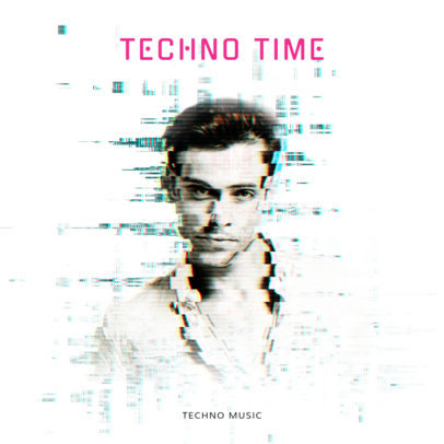 Techno Time Album Cover Template 473e