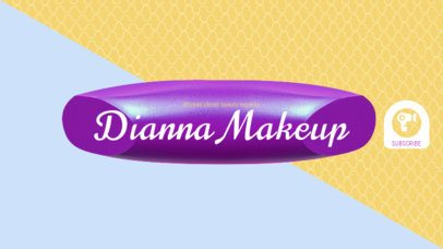 YouTube Beauty Tutorial Channel Banner Maker 451a
