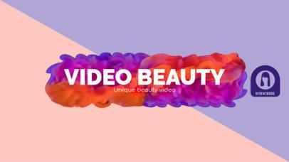 YouTube Beauty Influencer Channel Banner Maker 451c