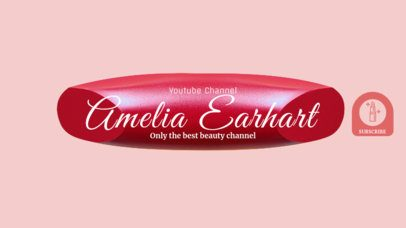 YouTube Beauty Star Channel Banner Template 451e