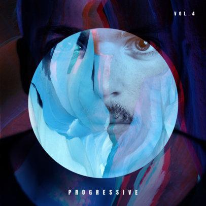 Progressive Electro-Music Album Cover Design Maker 469a