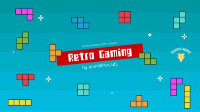 Retro Gaming Vlog Channel Banner Maker 460e