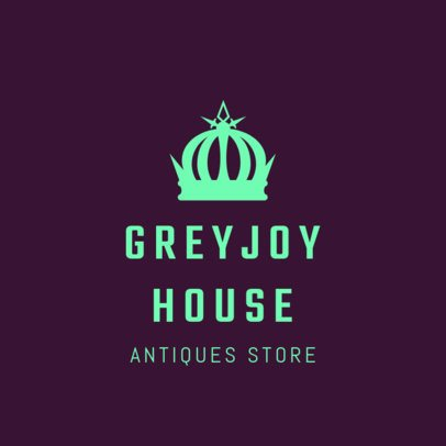 Logo Design Template for Antique Store 1326