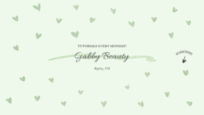 Minimalist Beauty Channel Banner Design Maker 447a