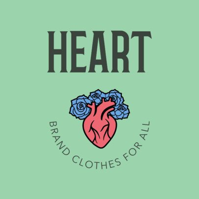 Logo Maker with Illustrated Icons for Clothing Brands 1316