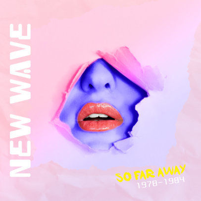 Album Cover Template for New Wave CD 476