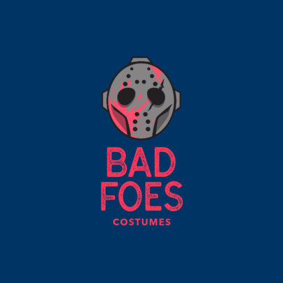 Logo Design Template for Scary Halloween Costume Store 1320b