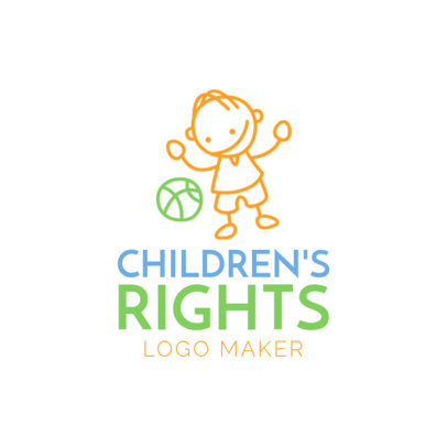 Logo Template for Children's Humanitarian Organization1336e