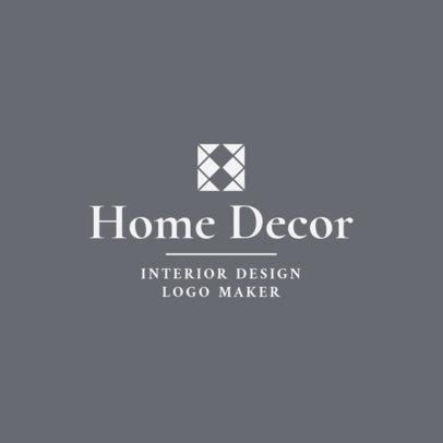 Home Decor Interior Designer Logo Maker 1330b