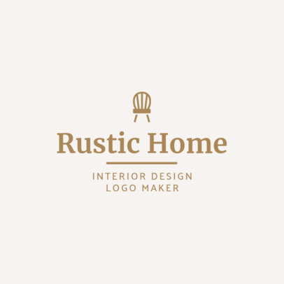 Logo Maker for a Rustic-Oriented Interior Designer 1330c