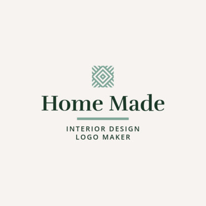 Simple Interior Designer Logo Maker 1330f