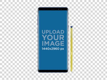 Mockup of an Ocean Blue Samsung Galaxy Note9 22159