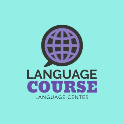 Language Course Logo Design Template 1302e