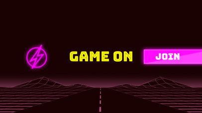 Simple Gamer Vlog Channel Banner Template 463b