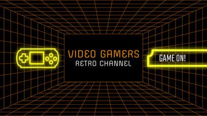 Retro  Gaming Channel Banner Maker 463c