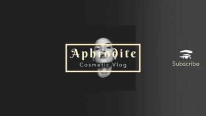 Youtube Channel Banner Template for Cosmetics Vlog 453a