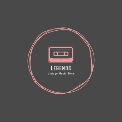 Logo Design Maker for Vintage Music Store 1319e