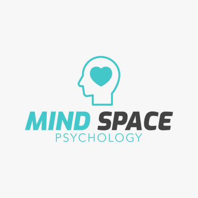 Therapist Logo Maker with Psychology Icon 1304