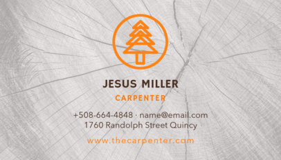 Carpenter Business Card Template 491