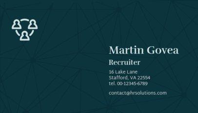 HR Recruiter Business Card Template 515b
