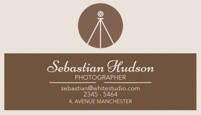 Professional Photographer Business Card Maker 507