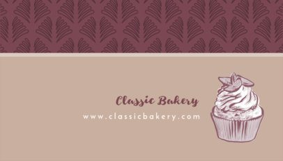 Business Card Maker for Cupcake Bakery 493b