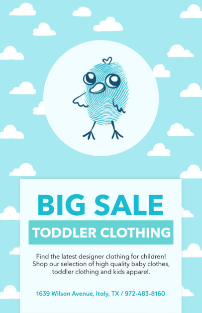Cute Flyer Template for Kids' Clothing Brand 502