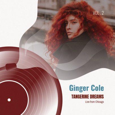 Minimalist Jazz Album Cover Template #468d