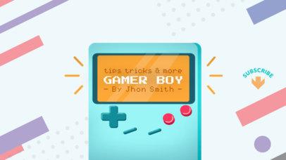 YouTube Channel Banner Maker for Cool Gamer 457a