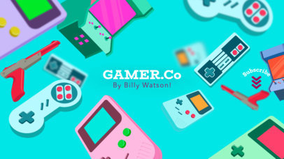 YouTube Gamer Company Channel Banner Maker 457c