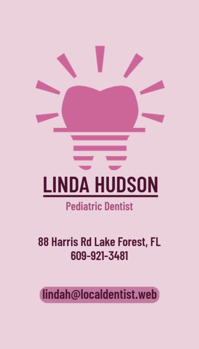 Pediatric Dentist Business Card Maker 490b