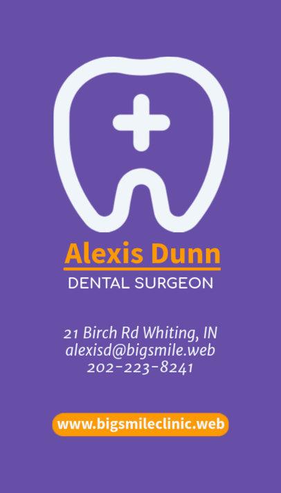 Dental Surgeon Business Card Maker 490d