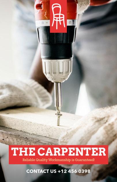 Carpenter Business Flyer Design Template 492a