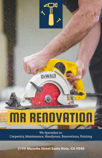 Renovation Services Flyer Maker 492b