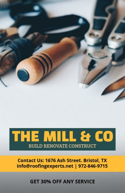 Building Company Flyer Design Template 492d