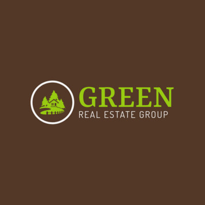 Ecohouse Real Estate Logo Maker 1350e