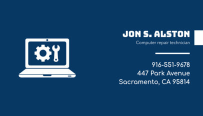 Computer Technician Business Card Maker 513c