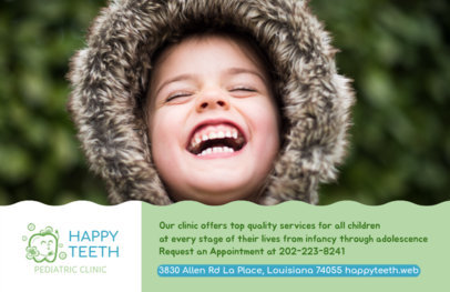 Flyer Design Template for Pediatric Dental Clinic #489c